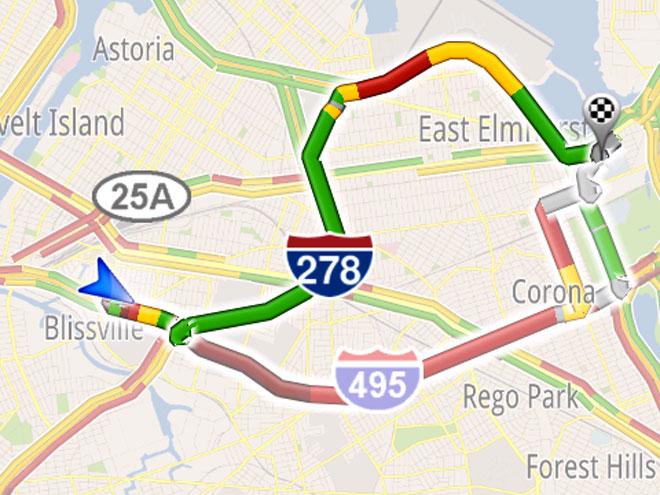 Google Maps Navigation maintenant capable d'indiquer le chemin le moins embouteillé