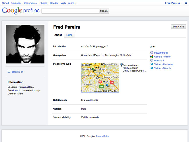 Google Profiles : une nouvelle interface inspirée de Facebook