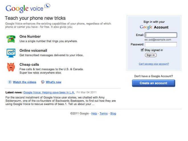 Google Voice : sortie en France fin 2011 ou début 2012