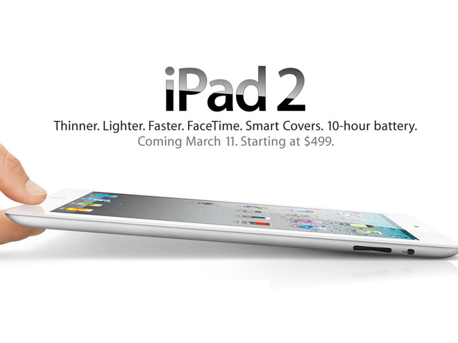 iPad 2 : plus fin, plus léger, plus puissant et disponible le 11 mars 2011 !