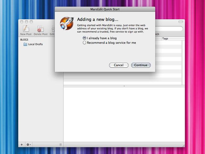 MarsEdit, un outil pour bloguer sur Mac OS X