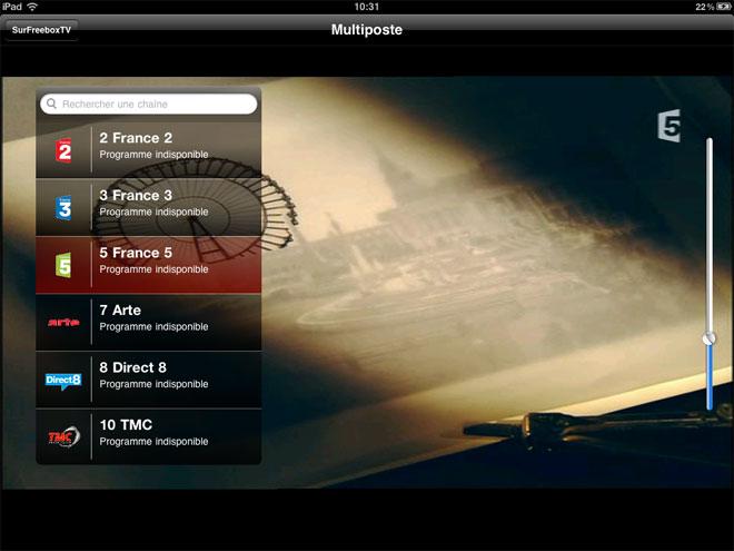 Free : regarder la télévision sur l'iPhone ou l'iPad avec Multiposte
