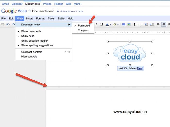 Bientôt la pagination dans Google Docs !