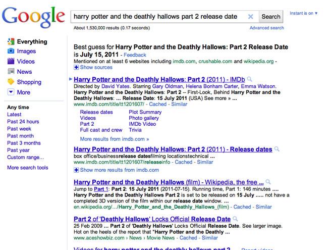 Google te permet maintenant de connaître la date de sortie d'un film ou d'un jeu
