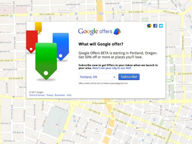 Google Offers est arrivé aux Etats-Unis !