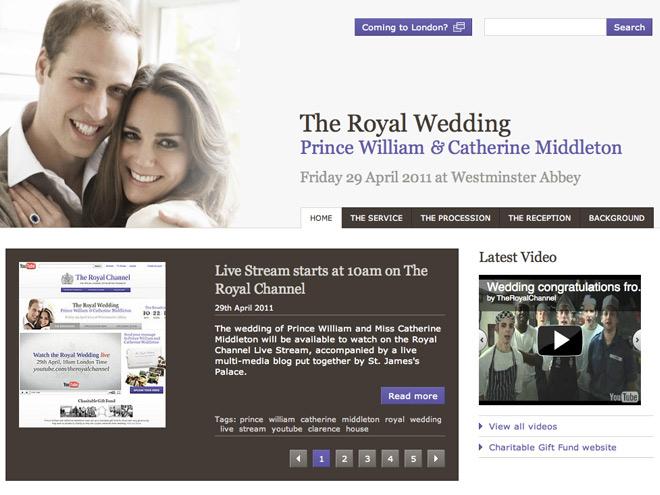 Le mariage de Kate et de William en streaming sur le web