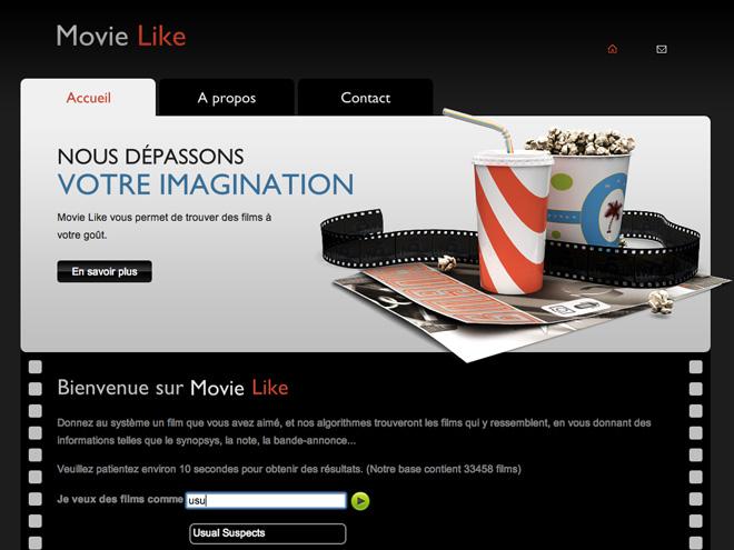 Movie Like, pour trouver des films similaires à ceux que vous aimez