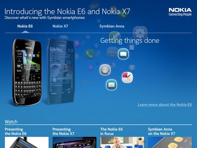 Nokia dévoile le E6 et le X7