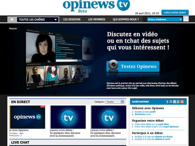 Opinews, pour créer des débats et échanger en vidéo