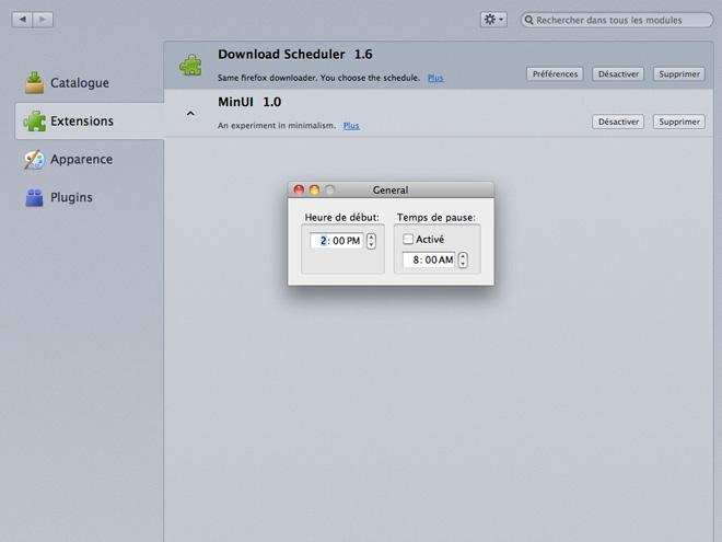 Firefox : programmer l'heure de ses téléchargements