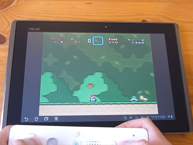 Jouer à la Super Nintendo avec une WiiMote sur une tablette Android, c'est possible !