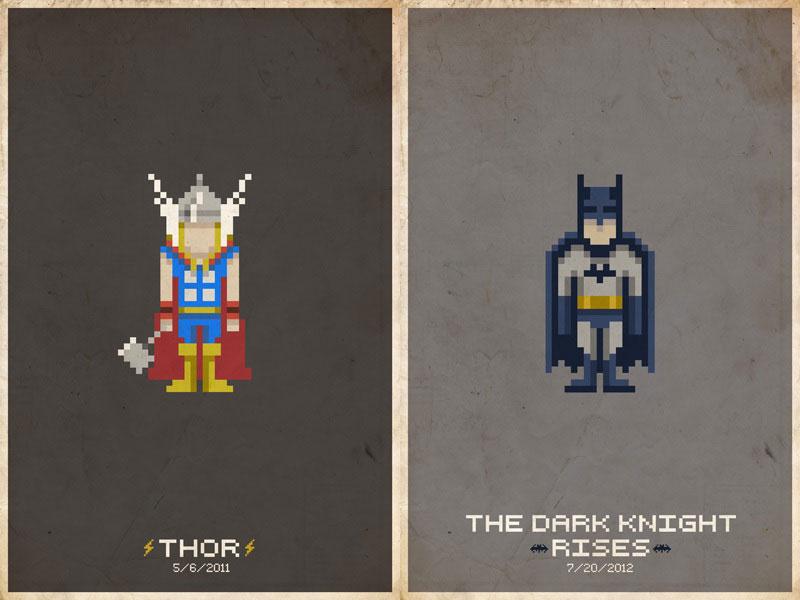 Des Super Héros tout en pixels !