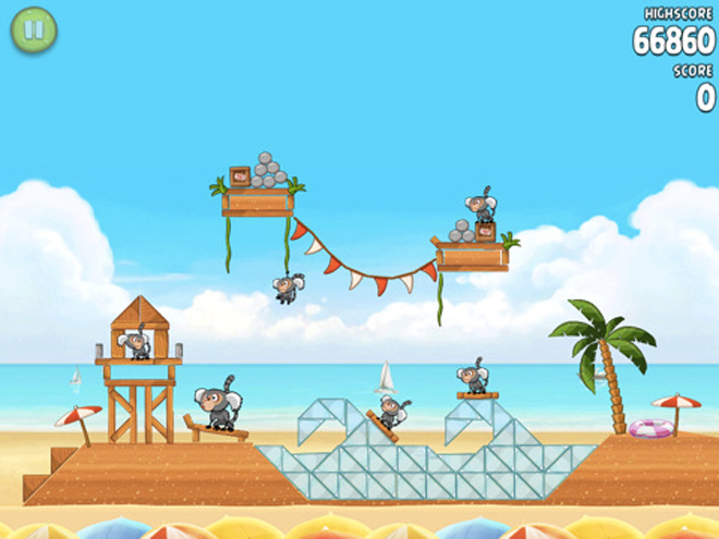 Angry Birds Rio Beach Volley : disponible sur l'AppStore