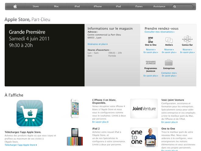 L'Apple Store de Lyon sera inauguré le 4 juin 2011