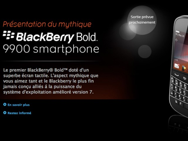 BlackBerry Playbook pas d'applications installées