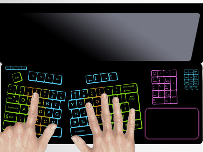 Fujitsu : un concept de clavier tactile personnalisable