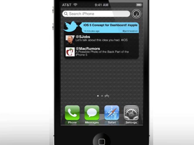 iOS 5 : un concept pour Spotlight