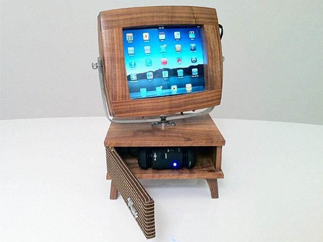 """Un dock """"vintage"""" pour l'iPad"""