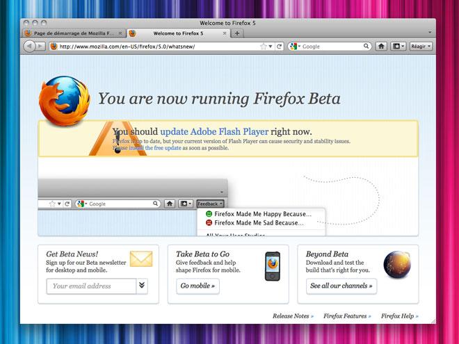 Firefox 5 disponible en version beta !