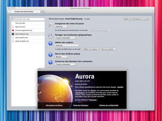 Firefox 6 débarque sur Aurora