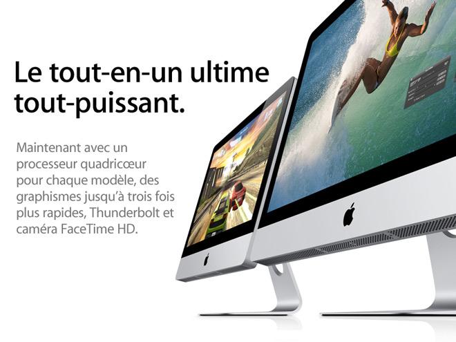 iMac 2011 : Sandy Bridge et Thunderbolt pour tout le monde !