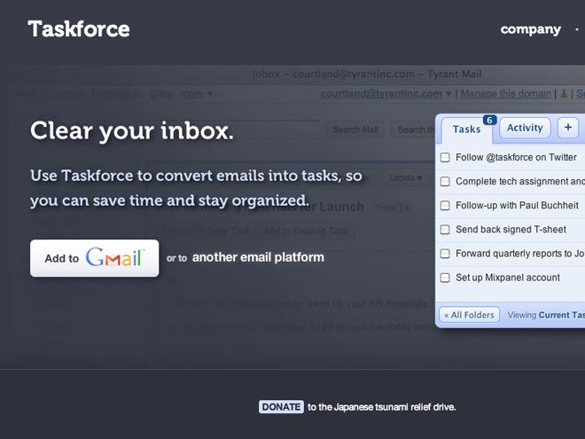TaskForce, pour transformer votre boîte mail en gestionnaire de tâches collaboratif