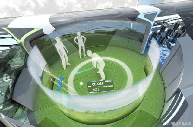 Airbus va lancer un avion transparent en 2050