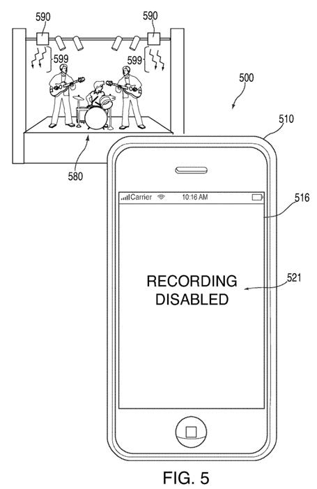 iOS : un brevet pour vous empêcher d'enregistrer les concerts auxquels vous assistez ?