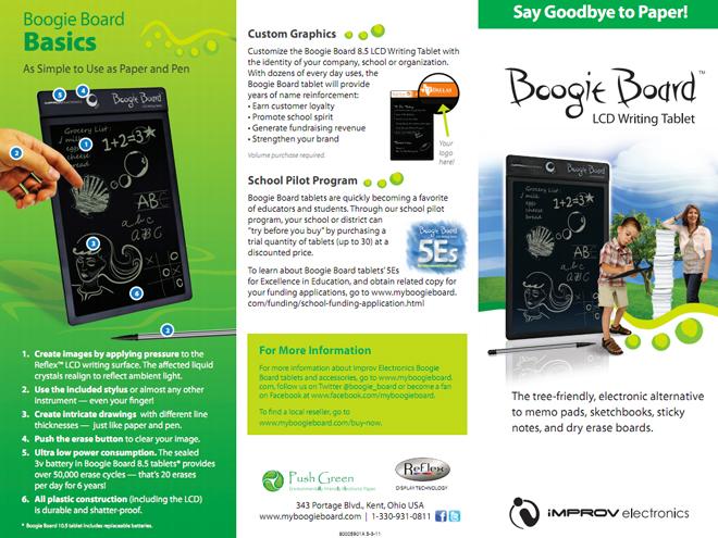 Boogie Board 10.5, une tablette de 10 pouces à 60 $ !