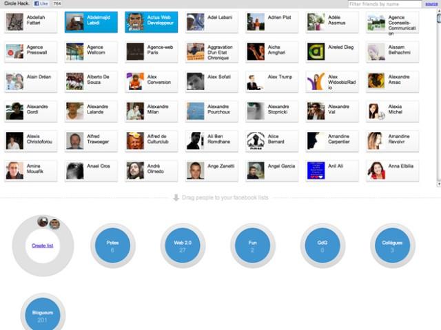 Créer des listes d'amis sur Facebook comme sur Google+
