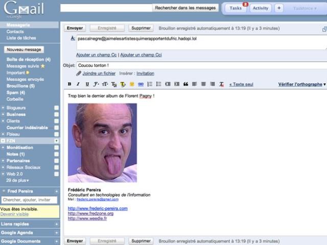 Gmail intègre le copier / coller d'images dans les mails