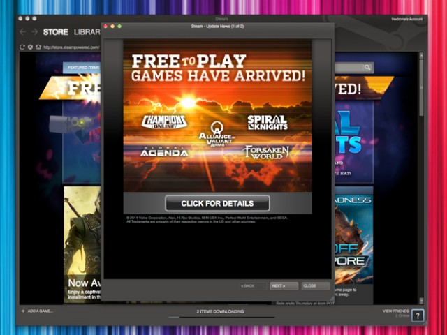 Le Free to Play arrive dans Steam !