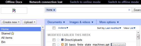 Google Docs : bientôt un nouveau mode offline en HTML 5