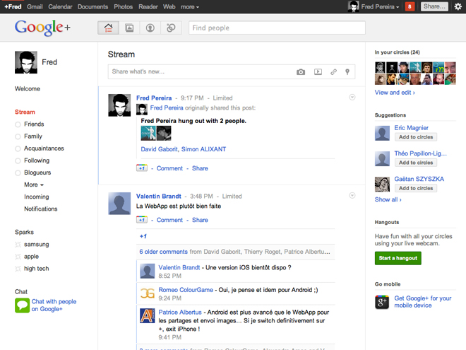Screencast : Google+