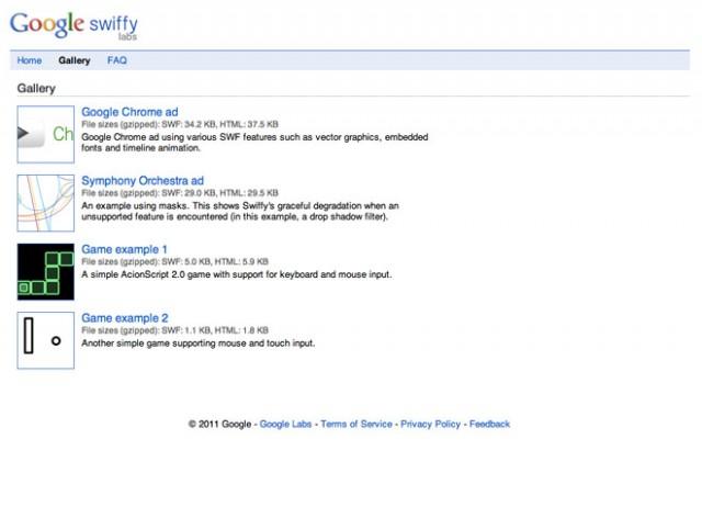 Google Swiffy, pour convertir du Flash en HTML 5