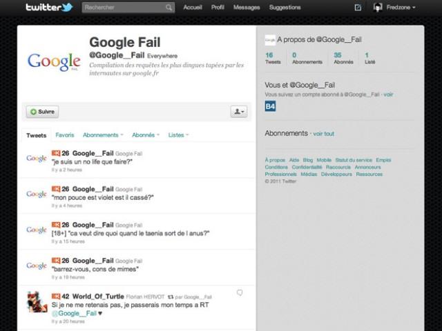Google__Fail, toutes les requêtes les plus débiles sur Twitter !