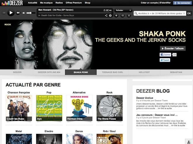 Deezer restreint son offre d'écoute gratuite et illimitée