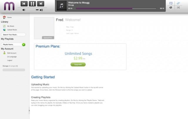 Mougg, un concurrent à Google Music / Amazon Cloud / iCloud
