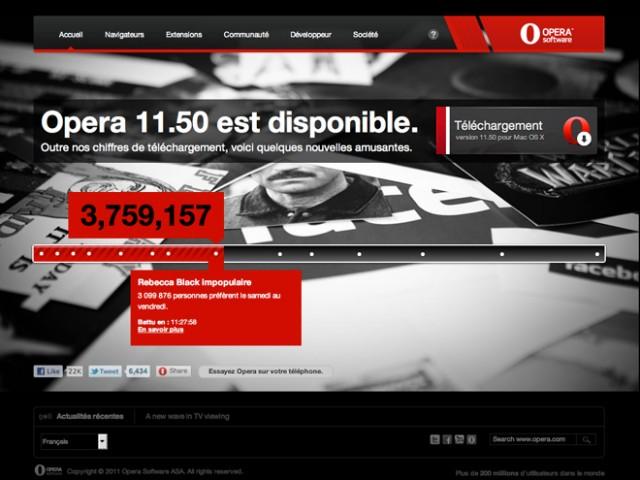 Opera 11.50 est disponible au téléchargement !