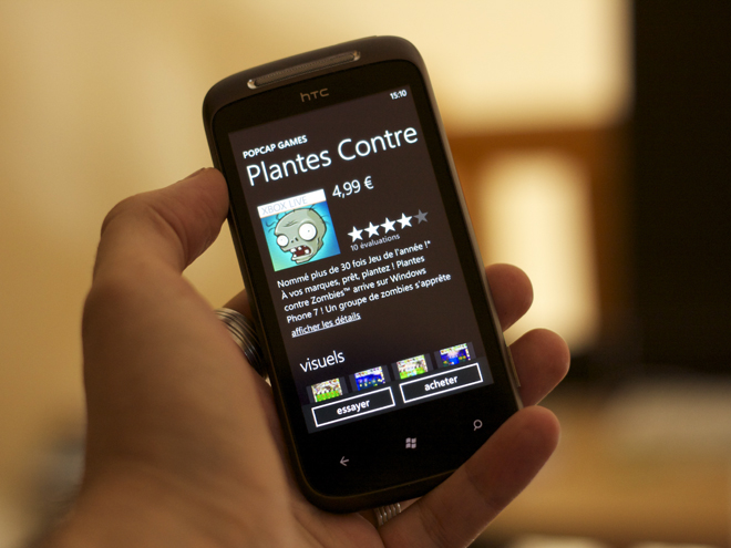 Plants vs Zombies débarque sur Windows Phone 7 !
