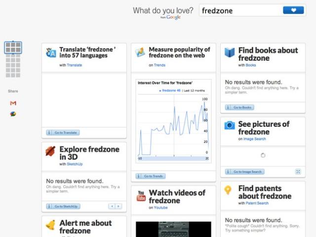 What Do You Love : tous les services de Google sur une même page