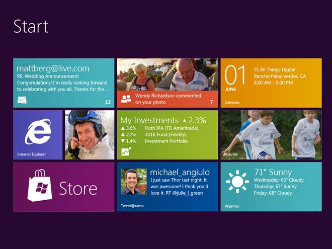 Windows 8 : un premier aperçu de l'interface (+ vidéo)
