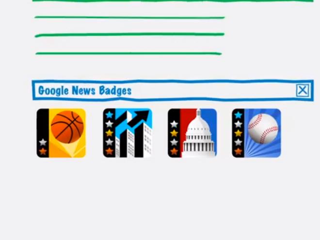 Bientôt des badges dans Google Actualités