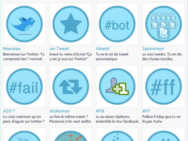Et si Facebook et Twitter avaient des badges ?
