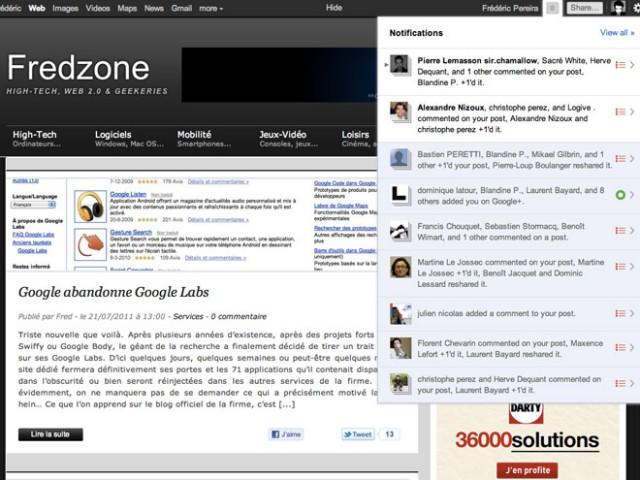 Comment profiter de la barre Google+ sur n'importe quel site
