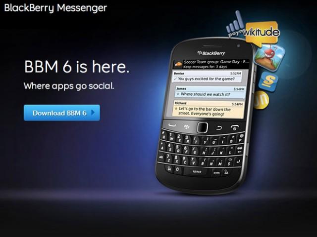 BlackBerry Messenger 6 est disponible... avec plein de fonctions intéressantes
