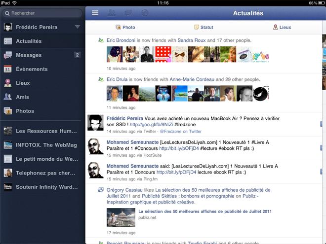 FaceForward, pour profiter de Facebook sur un iPad