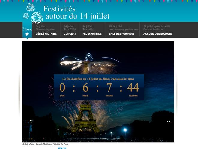 Regarder le feu d'artifice du 14 juillet à Paris sur internet, c'est possible !