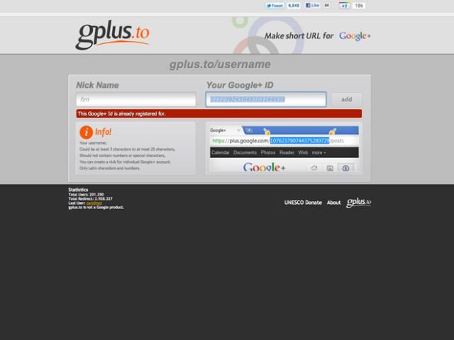 GPlus.to, pour raccourcir facilement son Google+