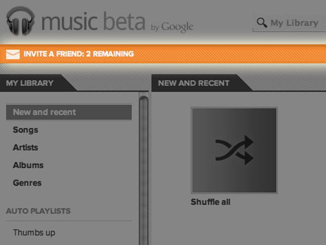 Google Music : des invitations à envoyer à vos amis ?